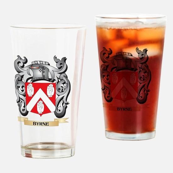 Byrne Family Crest - Byrne Coat of Drinking Glass