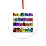 Soap Bottle Rainbow Ornament (Round)