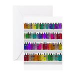 Soap Bottle Rainbow Greeting Card