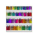 Soap Bottle Rainbow Square Sticker 3