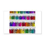 Soap Bottle Rainbow 20x12 Wall Decal