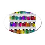 Soap Bottle Rainbow 35x21 Oval Wall Decal