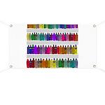 Soap Bottle Rainbow Banner