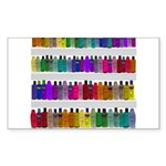 Soap Bottle Rainbow Sticker (Rectangle)