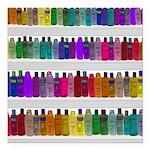 Soap Bottle Rainbow Square Car Magnet 3