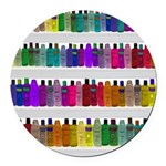 Soap Bottle Rainbow Round Car Magnet