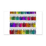 Soap Bottle Rainbow Rectangle Car Magnet