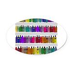 Soap Bottle Rainbow Oval Car Magnet