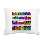 Soap Bottle Rainbow Rectangular Canvas Pillow