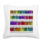 Soap Bottle Rainbow Square Canvas Pillow