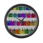 Soap Bottle Rainbow Large Wall Clock