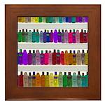 Soap Bottle Rainbow Framed Tile