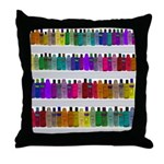 Soap Bottle Rainbow Throw Pillow