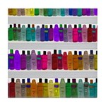 Soap Bottle Rainbow Tile Coaster