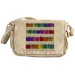 Soap Bottle Rainbow Messenger Bag