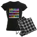 Soap Bottle Rainbow Women's Dark Pajamas