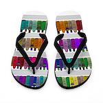 Soap Bottle Rainbow Flip Flops