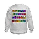 Soap Bottle Rainbow Kids Sweatshirt