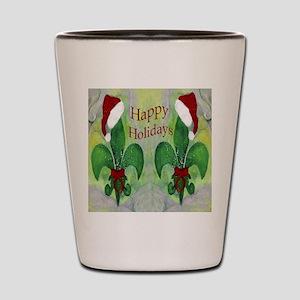 Christmas Santa Fleur de lis Shot Glass