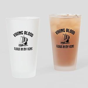 Viking Blood Flows In My Veins Drinking Glass