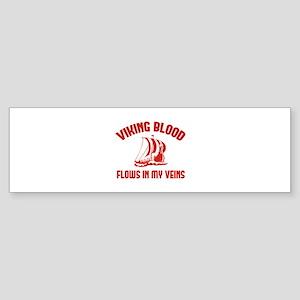 Viking Blood Flows In My Veins Sticker (Bumper)