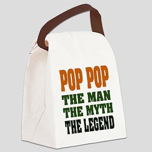 Pop Pop the Legend Canvas Lunch Bag