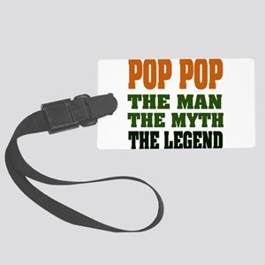 Pop Pop the Legend Large Luggage Tag