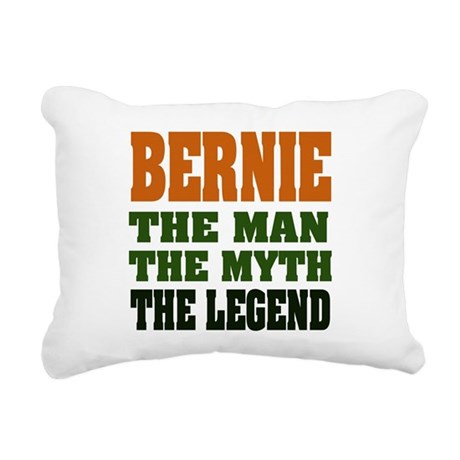 Bernie The Legend Rectangular Canvas Pillow
