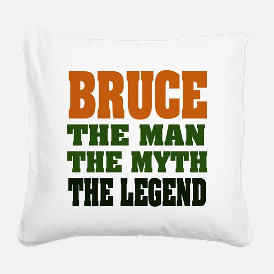 Bruce The Legend Square Canvas Pillow