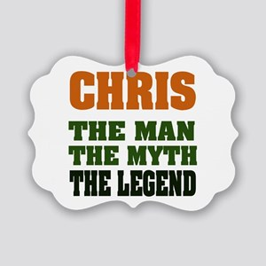 Chris The Legend Picture Ornament