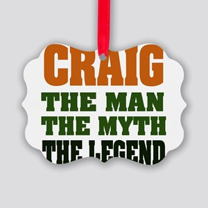Craig The Legend Picture Ornament