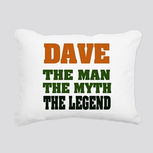 Dave The Legend Rectangular Canvas Pillow
