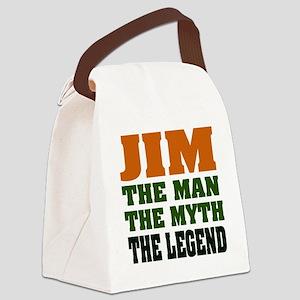 Jim The Legend Canvas Lunch Bag