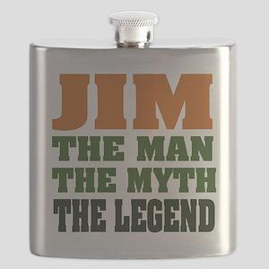 Jim The Legend Flask
