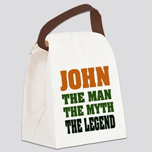 John The Legend Canvas Lunch Bag