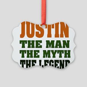 Justin The Legend Picture Ornament