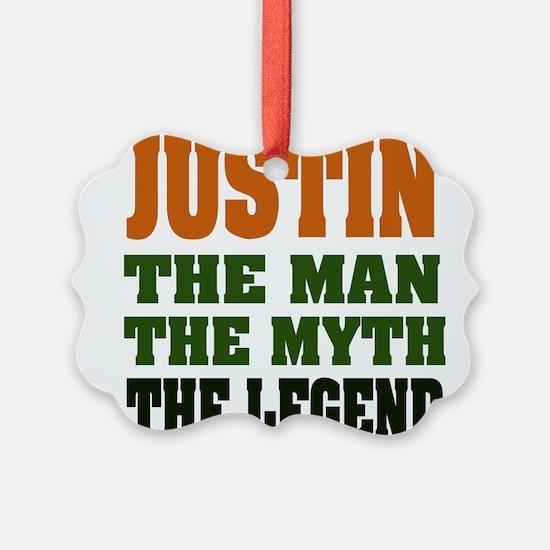 Justin The Legend Ornament