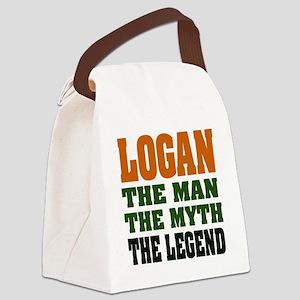 Logan The Legend Canvas Lunch Bag