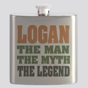 Logan The Legend Flask