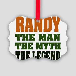 Randy The Legend Picture Ornament