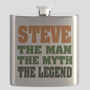 Steve The Legend Flask