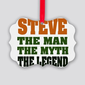 Steve The Legend Picture Ornament