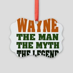 Wayne The Legend Picture Ornament
