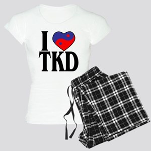 I Love Heart Tae Kwon Do Women's Light Pajamas