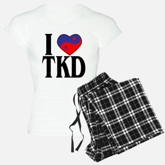 I Love Heart Tae Kwon Do Pajamas