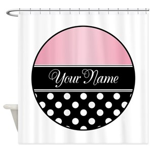 Black And Pink Shower Curtains