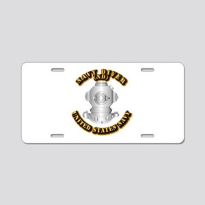 Navy - Rate - ND Aluminum License Plate