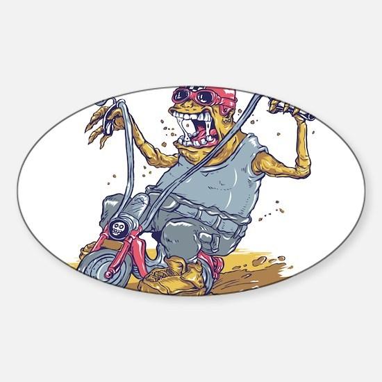 Biker Sticker (Oval)