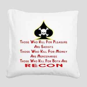 wht_Kill_For_Pleasure_Recon Square Canvas Pill