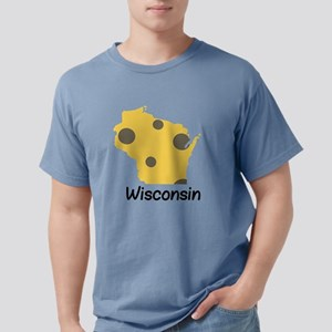 State Wisconsin Mens Comfort Colors Shirt